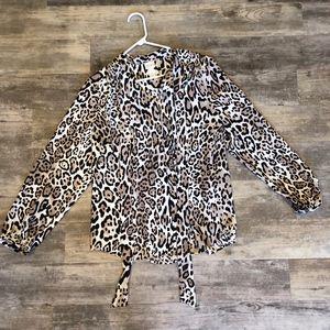 Cheetah Print Chicos Blouse